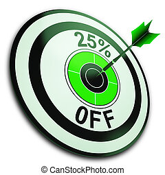 25 Percent Off Shows Reduction In Price