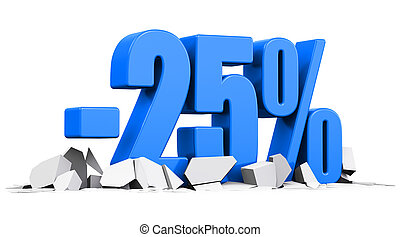 25 percent sale and discount advertisement concept
