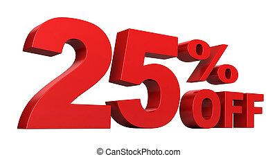 25, percento, spento