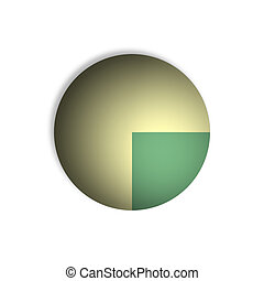 25% Pie Chart Percentage Graphics - Bitmap Illustration of...