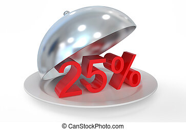 25 %,  sale and discount concept