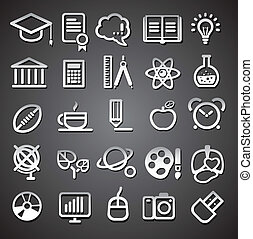 25 school and college icons