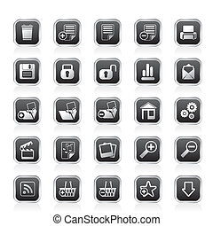 25 Simple Realistic Internet icons - 25 Simple Realistic...