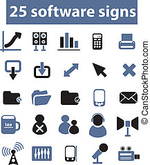 25 software signs, vector - 25 software web signs, vector