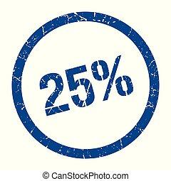 25% stamp