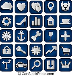 25 web icons set