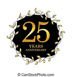 25 year anniversary celebration card