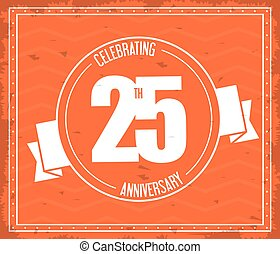 25 Year. Celebrating Anniversary. Vector graphic
