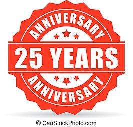 25 years anniversary celebration vector icon