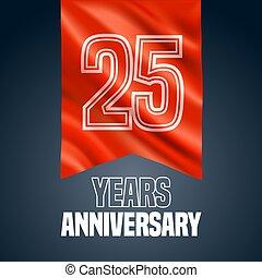 25 years anniversary vector icon, logo