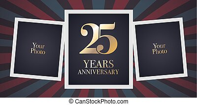 25 Years Anniversary Vector Icon Logo Template Design Element 25