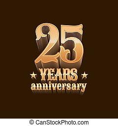 25 years anniversary vector logo