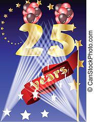 25 years celebration.festive background in 10 EPS