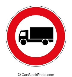 253 Prohibition for trucks German road sign