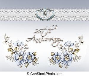 25e, carte anniversaire, mariage
