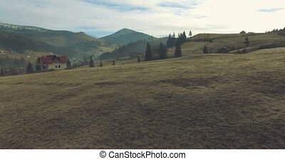 25fps, 4k, carpathian, montagnes., village