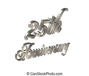 25th, 3d, aniversário