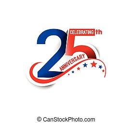 25th, aniversário, anos