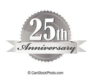25th, aniversário, selo