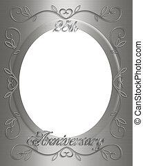 25th anniversary invitation card illustration black ornamental 25th anniversary stopboris Gallery