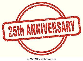 25th anniversary grunge stamp - 25th anniversary round...
