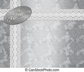 25th silver wedding anniversary invitation 3d illustrated stock 25th anniversary invitation stopboris Gallery