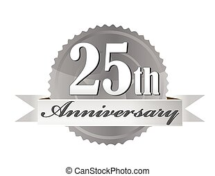 25th Anniversary Seal - 25th year anniversary silver seal ...