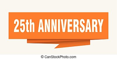 25th anniversary sign. 25th anniversary paper origami speech...