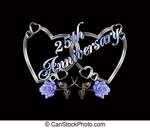25th anniversary silver hearts