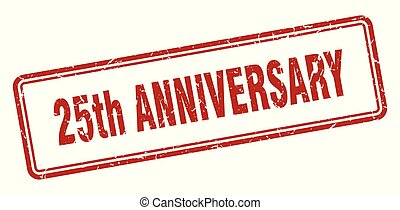 25th anniversary stamp. 25th anniversary square grunge sign....