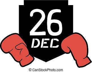 26 dec boxing day icon - Creative design of 26 dec boxing...