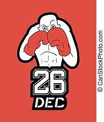 26 dec boxing day illustration - Creative design of 26 dec...