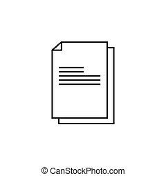 26 - files (documents, data) icon. vector illustration...