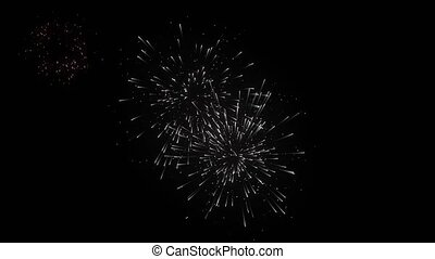 26. Fireworks particle firecracker explosion background -...