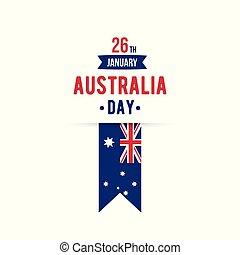 26 January Happy Australia Day typography design element....