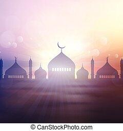 2605, paysage, ramadan, fond