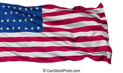 27 Stars USA Isolated Waving Flag