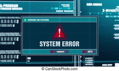27. System Error Warning Notification on Digital Security Alert on Screen.