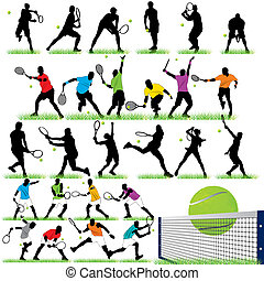 27, tenis, conjunto, jugadores