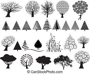 27, vector, árboles