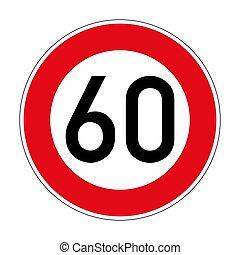 274 speed Limit German road sign