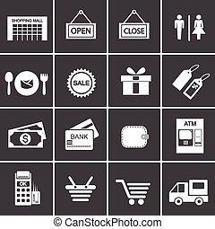 275-2 shopping icon set