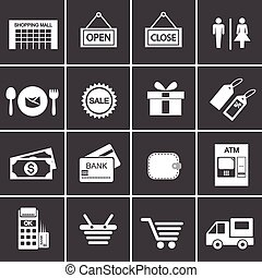 275-2 shopping icon set