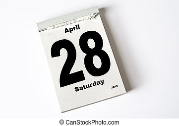28. April 2012 - calendar sheet