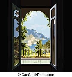 2800x2Villa window view of the ocean