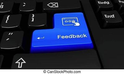 285. Feedback Round Motion On Computer Keyboard Button.