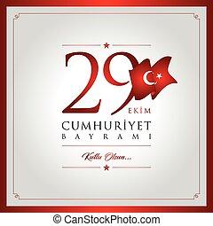 29 ekim cumhuriyet bayrami vector illustration. (29 October,...