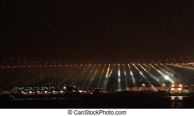 29 Ekim Festival - Running lights over Bosporus Bridge on...