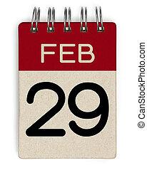 29, feb, naptár
