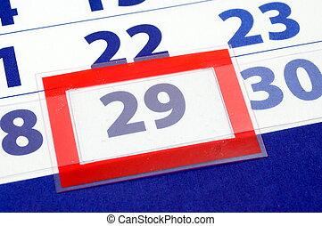 29, nap, naptár